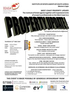 Invitation Evo Langebaan Property Update - 15th May 2014