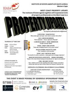 Invitation Evo Langebaan Property Update - 15th May 2014